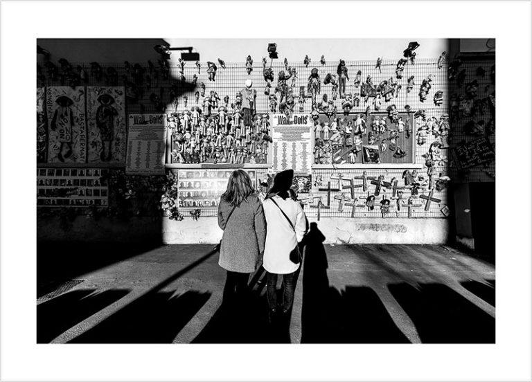Franco Gualdoni_Meravigliosa Milano -Wall of Dolls